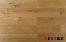 G001-Oak wood veneer with HDF core--lamiwood flooring with smoked treatment