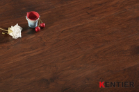 H65079-Dark color laminate wood flooring with hickory wood texture